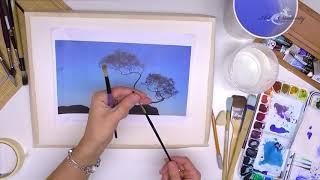 Акварельное дерево! Бесплатный урок рисования акварелью для начинающих!