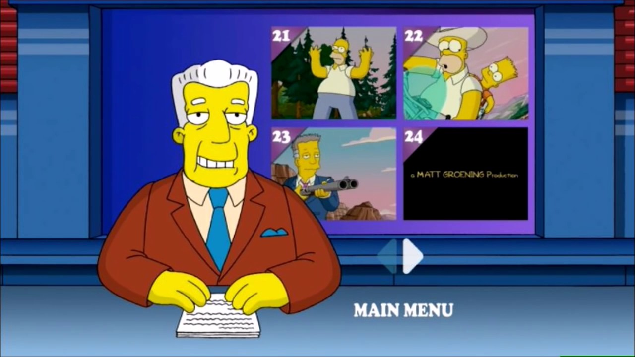 The Simpsons Movie 2007 Dvd Menu Walkthrough Youtube