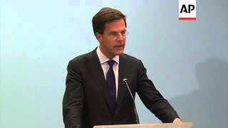 Rutte says Dutch to lead international effort to identify plane victims