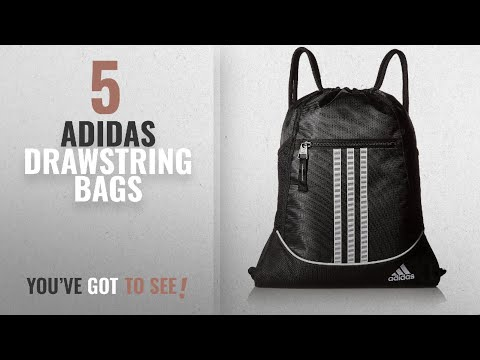 Top 10 Adidas Drawstring Bags [2018]: adidas Alliance II Sackpack, 18 x 13 3/4-Inch, Black