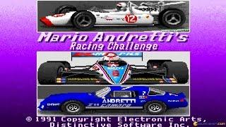 Mario Andretti Racing Challenge gameplay (PC Game, 1991)