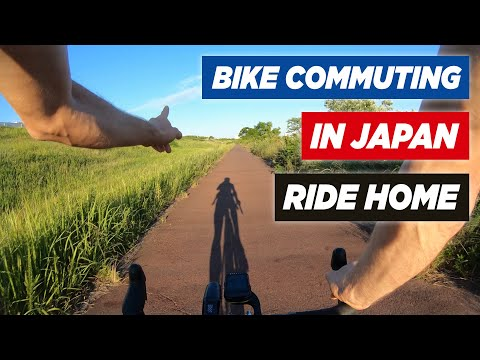 [Cycling Japan] Commuting By Bike To Work - Ride Home After Work