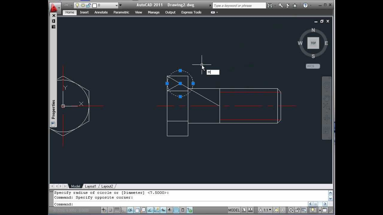 medium resolution of autocad 2011 building a dynamic hex screw block part1 6