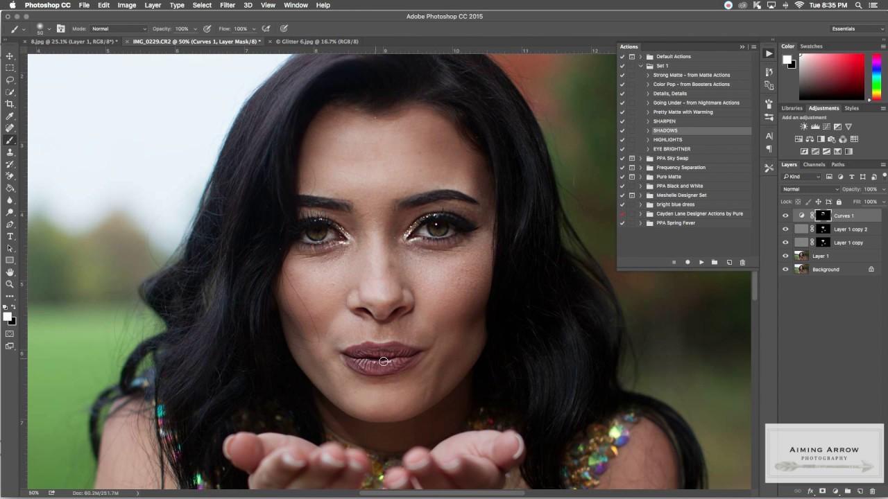 Adding Glitter Overlay Photoshop | Senior Portrait Edit