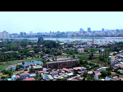 Phnom Penh City Along The Mekong River View At the Northern and Western Sides, Cambodia
