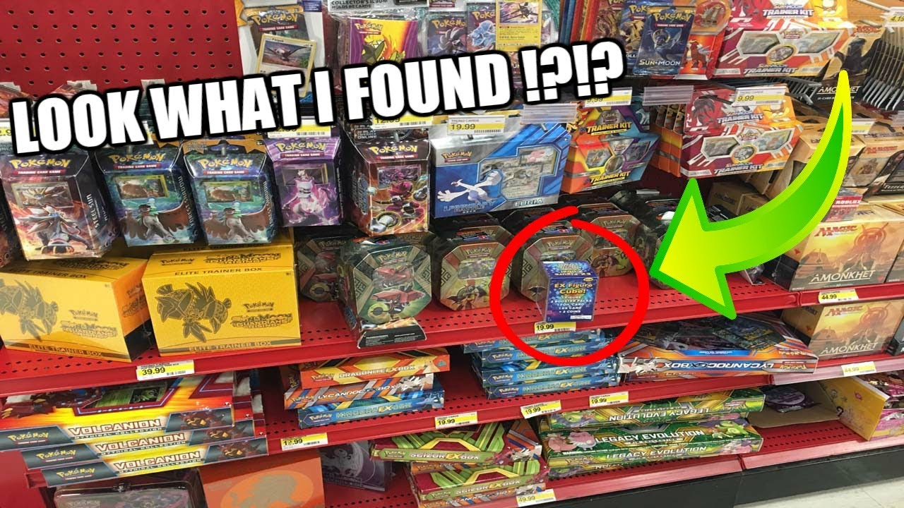 New Ex Figure Cube Buying Pokemon Cards At Target Youtube