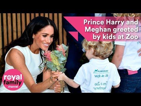 Prince Harry and Meghan charm kids and koalas on visit to Taronga Zoo, Sydney