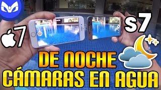 DUELO EN AGUA NOCHE FIX iPhone 7 VS Galaxy S7 CAMARAS