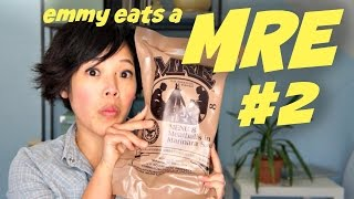 MRE: Menu 8 Meatball Marinara - Meal-Ready-to-Eat tasting