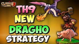 DRAGHO | DRAGON + HOGS | New Th9 3 STARS WAR ATTACK STRATEGY | Clash Of Clans