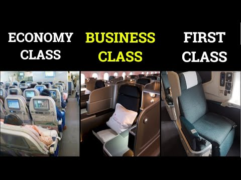 Differences between Economy, Business, and First class | Gchills | Hindi