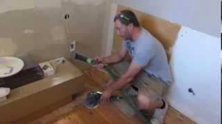Festool Ro150 sanding plasterboard