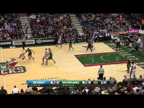 Detroit Pistons vs Milwaukee Bucks - February 9, 2013