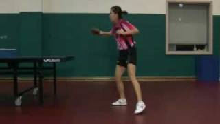 ParK Mi Young Chop Backhand Sequence 1