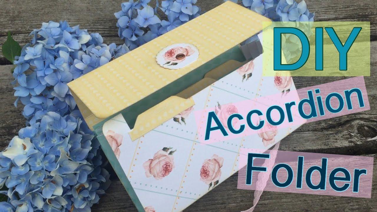 diy accordion file folder file flip folder penpal ideas iu0027m a cool mom youtube - Accordion Folder