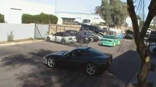 C5 Corvette Drifting Donuts In Parking Lot. 2F Performance