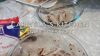 Making a Date Dessert