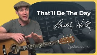 That'll Be The Day - Buddy Holly (Easy Beginner Song Guitar Lesson BS-510) How to play