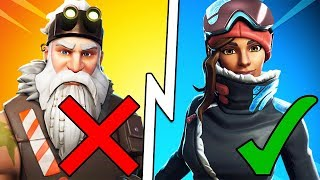 RANKING EVERY SEASON 7 SKIN IN FORTNITE! (Fortnite Season 7 Battle Pass Skins Worst to Best)
