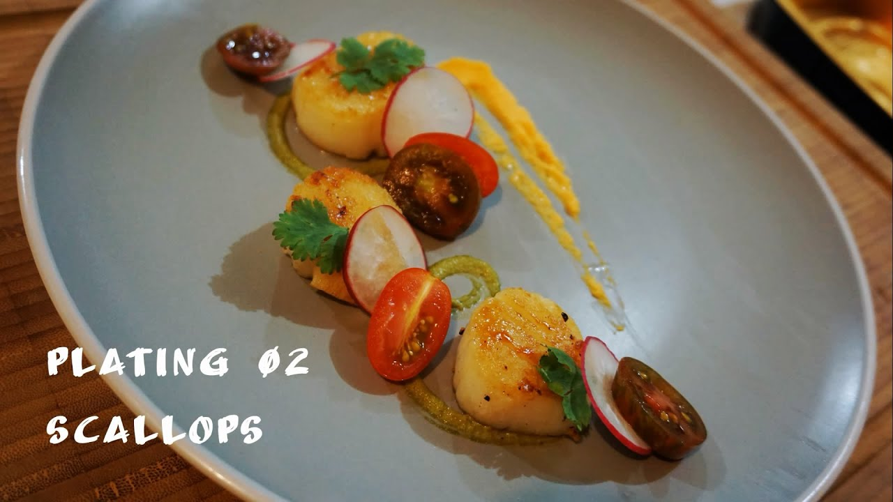 Plating 02 - Scallops - YouTube
