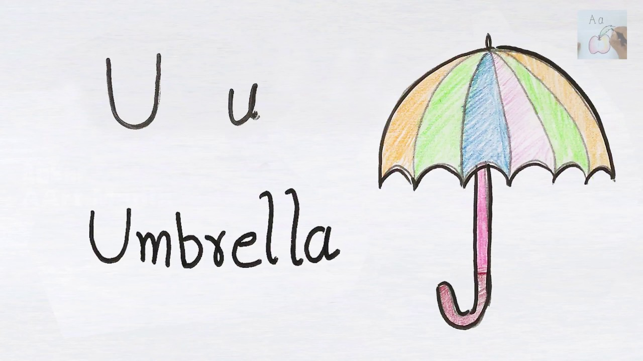 U For Umbrella How To Draw Using Alphabets Fun With Drawing Kids