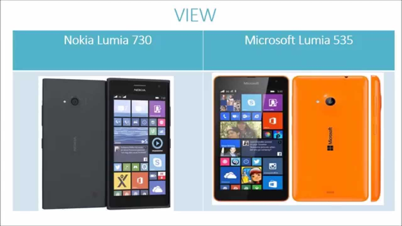 Nokia Lumia 535 Saturn: Microsoft Lumia 535 Vs Nokia Lumia 730 Specification