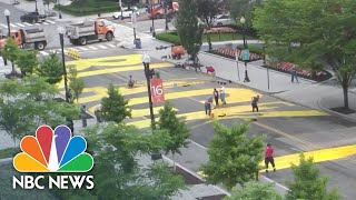 'Black Lives Matter' Painted On Street Leading To White House | NBC News NOW