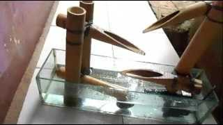 Cara Membuat Air Mancur Bambu