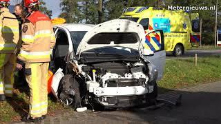 Twee gewonden na aanrijding in Nieuwleusen