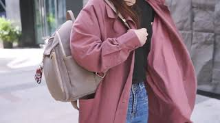 신학기 캐쥬얼 캔버스 패션 여성 백팩 대용량 책가방