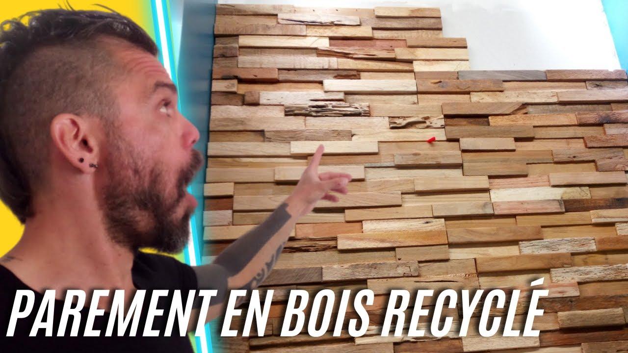 poser des plaquettes de parement en bois