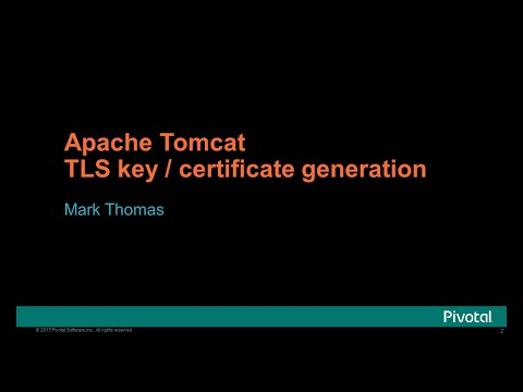 Apache Tomcat TLS Key and Certificate Generation