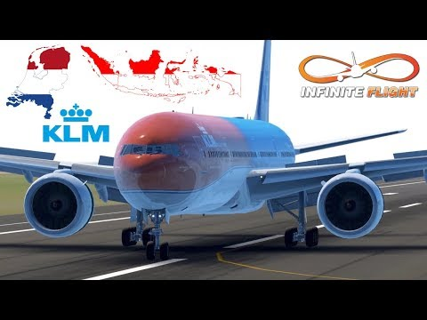 Infinite Flight GLOBAL: Jakarta (CGK) To Amsterdam (AMS) | TIMELAPSE | KLM | Boeing 777-300ER