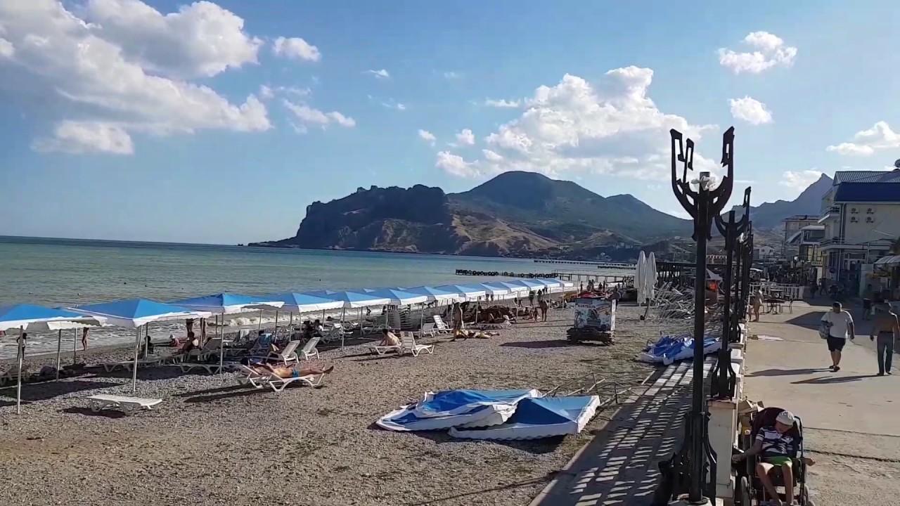 Фото пляжа и набережной в коктебеле