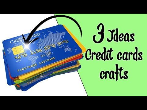 4 Crafty Ideas For Recycling Old Credit Cards Youtube