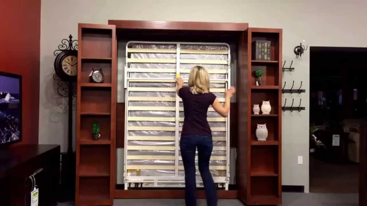 New Bookcase Wallbed At Hoot Judkins Furniture   YouTube
