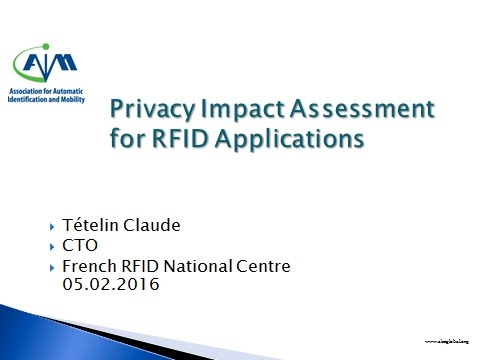 Privacy in the EU - Impact Assessment for RFID Applications