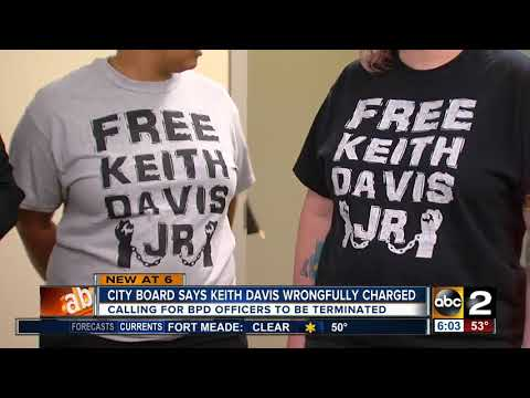 Baltimore Civilian Review Board claims Keith Davis wrongfully charged