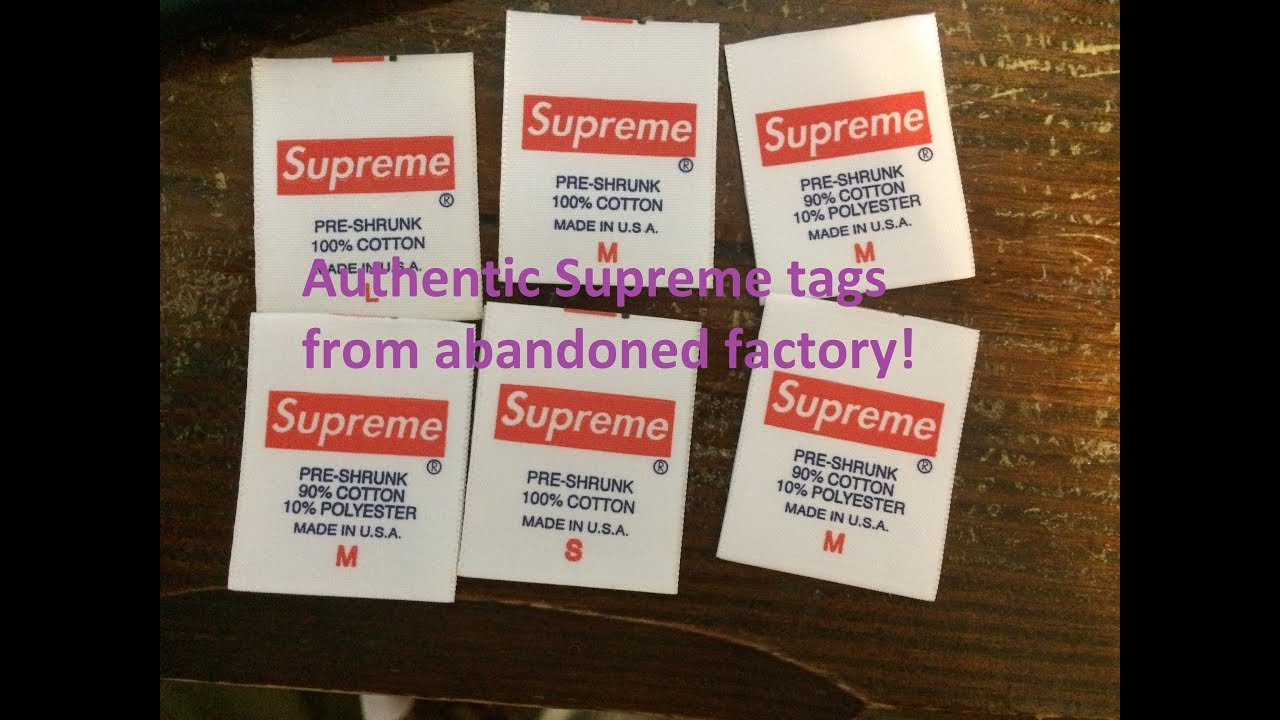supreme tags from abandoned supreme factory unboxing and rare