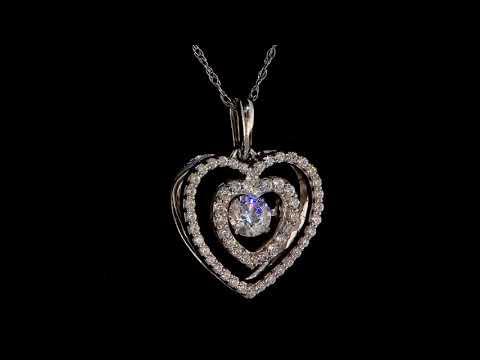 Taj Heart Diamond Pendant