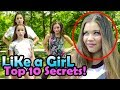🎤 Haschak Sisters LIKE A GIRL Top 10 SECRETS REVEALED! 🎵 w/ Gracie,Sierra,Olivia,Madison 🕺