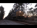 CSX Q140 at Dusk with Funny Conductor [HD]