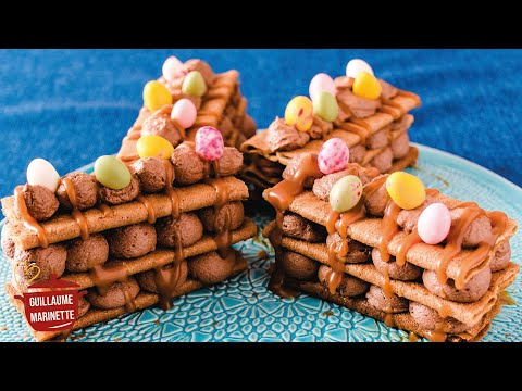 mille-feuille-chocolat-crÊpes-dentelles-de-pÂques-!-recette-facile-&-rapide