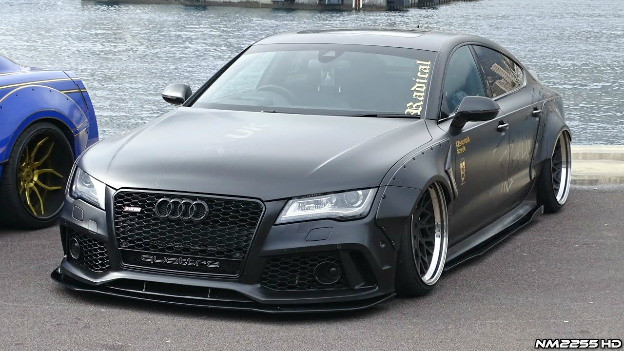 insane audi a7 3 0 tdi widebody with loud exhaust crazy. Black Bedroom Furniture Sets. Home Design Ideas