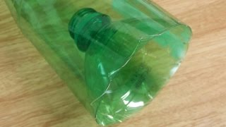 How to make a minnow trap from a plastic bottle