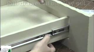 Silver Creek Cabinets Roller Bearing Slide Release Instructions