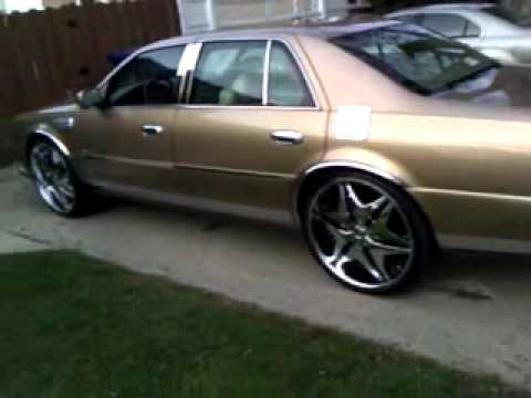 24 Chrome Rims On The Cadillac Deville Youtube