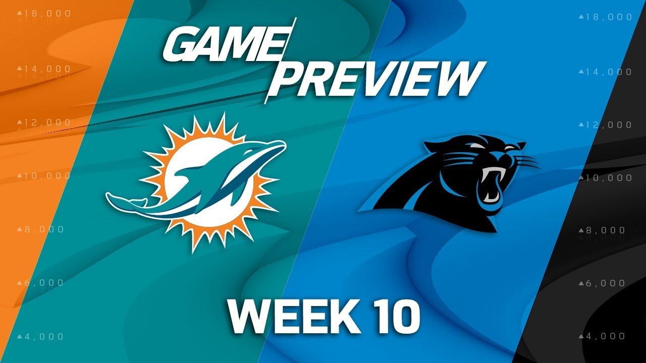 Miami Dolphins Vs Carolina Panthers NFL Week 10 Game
