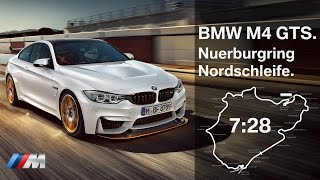BMW M4 GTS Fast Lap Nuerburgring Nordschleife.(An outstanding 7min 28s lap on the legendary Nürburgring Nordschleife (North Loop) in a BMW M4 GTS. Driver and commentator: BMW M engineer Joerg ..., 2015-12-21T16:59:29.000Z)