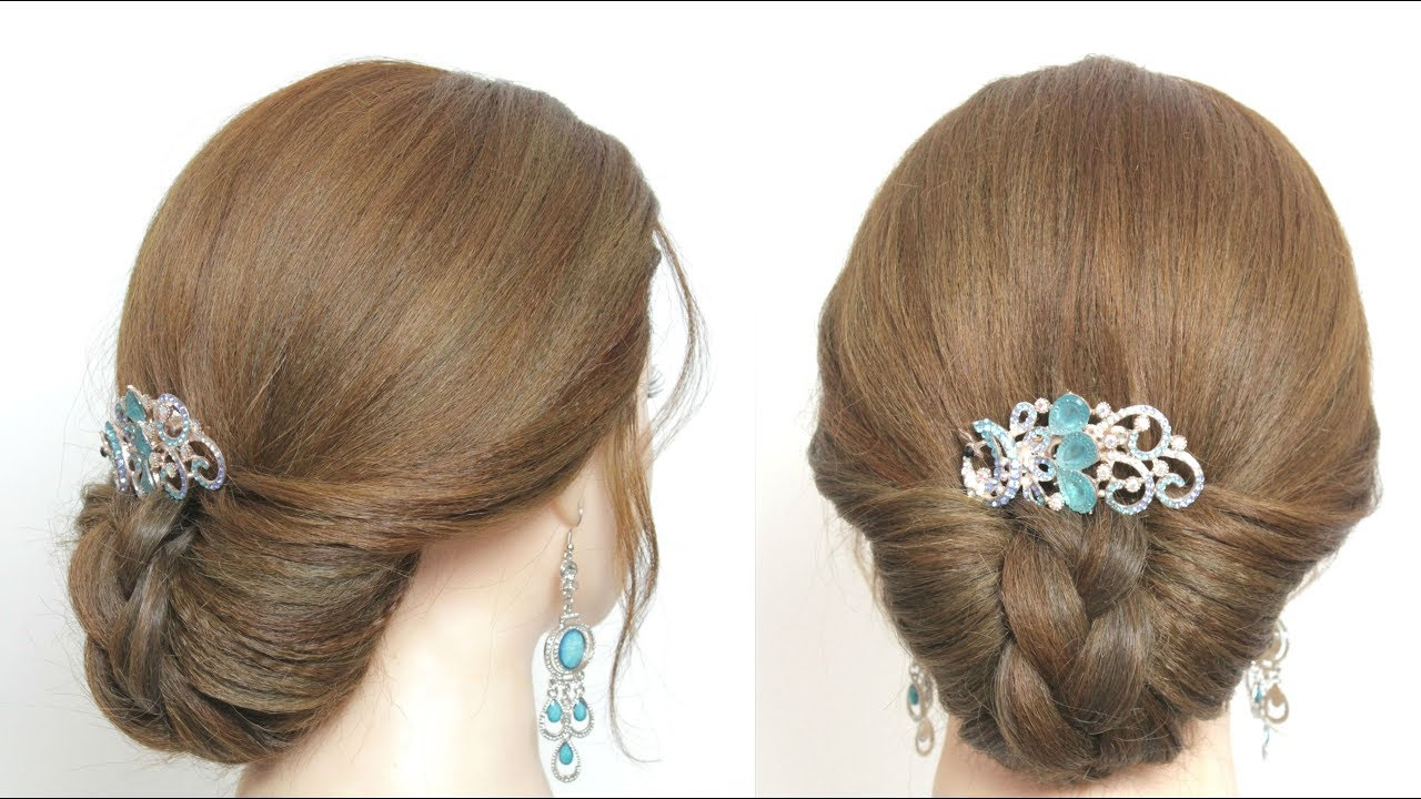 Simple Updo Hairstyle For Long Medium Hair Hairstylesforall